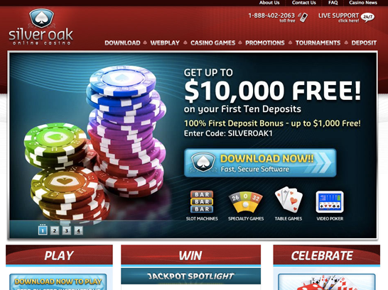 Play blackjack at Silver Oak Casino - $10 000 is yours!